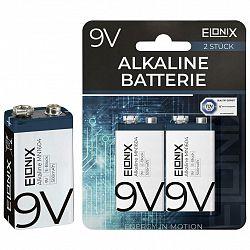 Batéria Alkaline 9v, 2 Ks/bal.