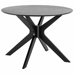 Jedálenský Stôl Duncan Čierna 100 Cm