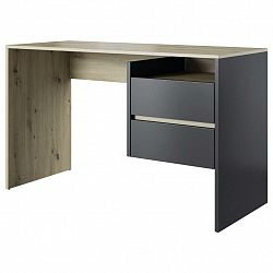Písací Stôl Paco 3 Dub Artisan/antracit