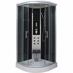 Sprchový Kút Relax Chróm / Čierna Š: 90cm